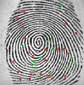 پیاده سازی رمزنگاری اثر انگشت با متلب