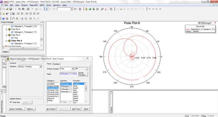 شبیه سازی فیلتر فعال در فرکانس مایکروویو با HFSS