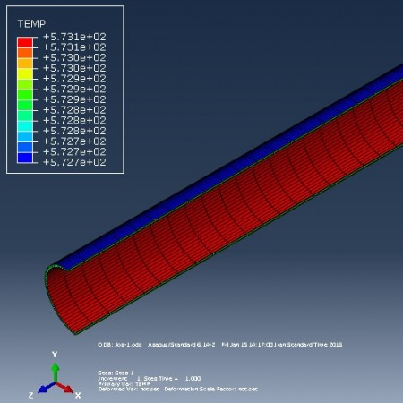 شبیه سازی حرارتی سیال درون لوله کلکتور خورشیدی با آباکوس