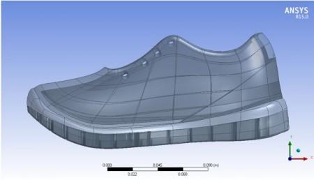 مدل سازی و آنالیز عددی کفش ورزشی با انسیس