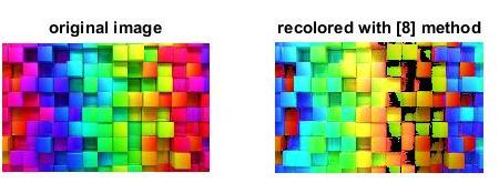 شبیه سازی مقاله الگوریتم رنگ آمیزی مجدد با متلب