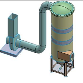 مقاله CFD بازدهی حذف ذرات غبار اسكرابر ونتوری در CFX