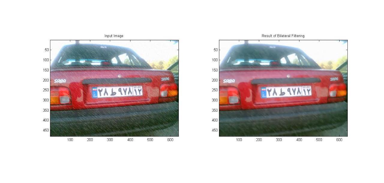 شبیه سازی حدف نویز از تصاویر باران بکمک پردازش تصویر با متلب
