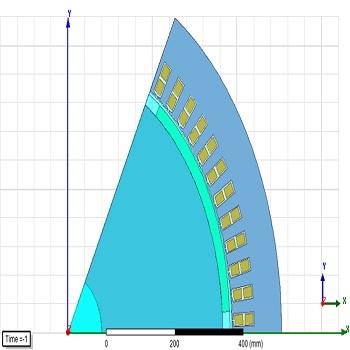 طراحی و شبیه سازی ژنراتور سنکرون مغناطیس دائم با Maxwell