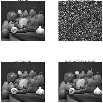 شبیه سازی مقاله روشهای رمزنگاری و پنهان نگاری همزمان به کمک هیستوگرام تصویر با متلب