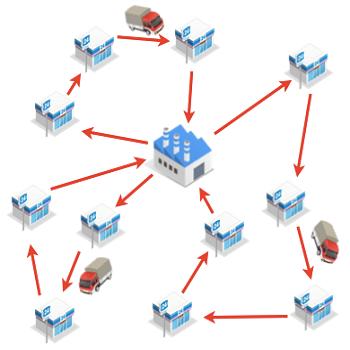 مسیریابی وسایل نقلیه به کمک الگوریتم ژنتیک با متلب