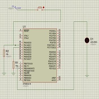 شبیه سازی مدار دزدگیر حساس به حرکت با CODEVISION AVR