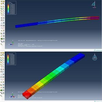 شبیه سازی و تحلیل تیر کامپوزیتی در بارگذاری ترکیبی با آباکوس