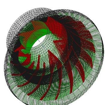 شبیه سازی تاثیر تعداد پره بر فشار خروجی در کمپرسور های شعاعی با انسیس