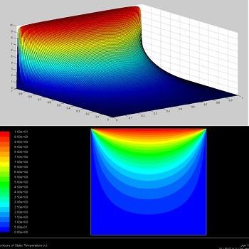 شبیه سازی توزیع دما در جسم یک بعدی و دو بعدی با فلوئنت و تحلیل عددی با متلب