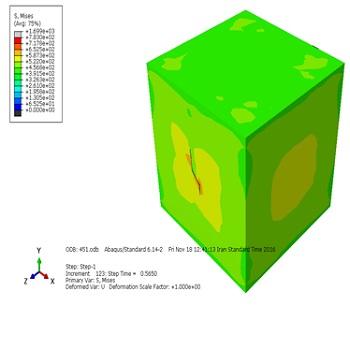شبیه سازی و تحلیل رشد ترک در قطعه بتنی تحت زوایا و بارگذاری مختلف با آباکوس