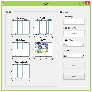 شبیه سازی لینک مخابرات نوری شامل بخش های کدینگ کانال و مدولاسیون با متلب