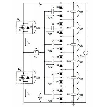 شبیه سازی مقاله افزایش ولتاژ برای سوپر خازن های سری با متلب
