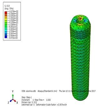 شبیه سازی و بررسی نانو کامپوزیت دندان مصنوعی با آباکوس