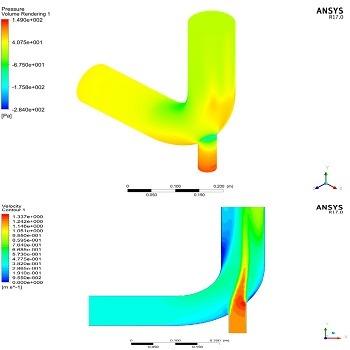 شبیه سازی ورود جریان هوای گرم به درون مبدل حرارتی با انسیس