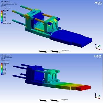 طراحی دستگاه تزریق پلاستیک با سالیدورک و تحلیل آن با انسیس