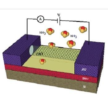 شبیه سازی مقاله ارزیابی کارایی نانولوله های گرافن و کربن برای سنسور گاز آمونیاک با متلب