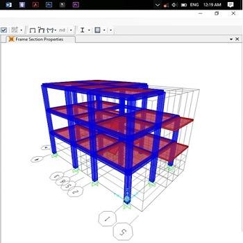 پروژه آماده طراحی سازه فولادی به روش LRFD با SAP