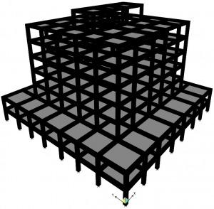 پروژه آماده طراحی ساختمان بتنی 7 طبقه با ETABS و SAFE