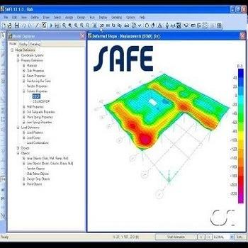پروژه آماده طراحی دال دوطرفه با SAFE