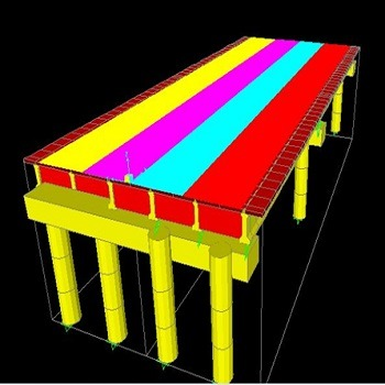 پروژه آماده طراحی و مدلسازی پل با SAP