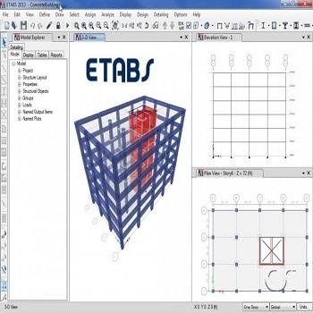 پروژه آماده طراحی بیمارستان فولادی 2 طبقه با ETABS