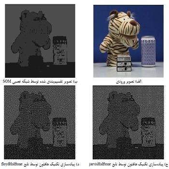 شبیه سازی نمایش تصاویر به روش هافتون توسط شبکه عصبی SOM با متلب