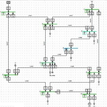 شبیه سازی توزیع بار در سیستم قدرت با DigSilent