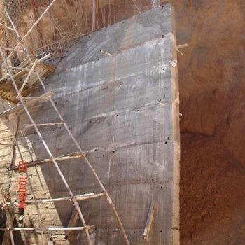 پروژه آماده محاسبات و طراحی دیوار حائل بتنی با اتوکد