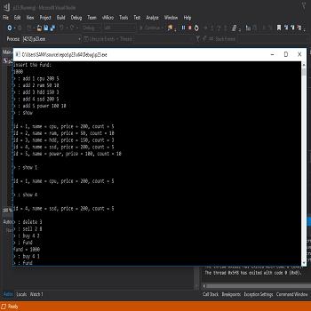شبیه سازی مدیریت اطلاعات یک فروشگاه به زبان C++