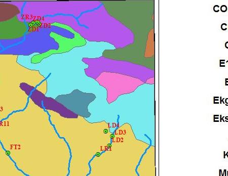 پروژه آماده gis نقشه زمین شناسی قسمتی از منطقه جاجرود با ArcGIS