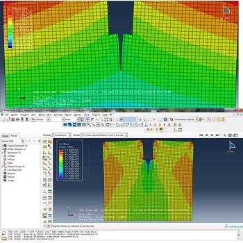 شبیه سازی و تحلیل رشد ترک در صفحه فلزی با آباکوس