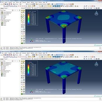 شبیه سازی چهارپایه و تحلیل تنش و کرنش با آباکوس