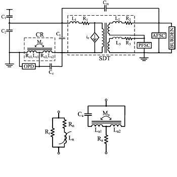 شبیه سازی ترانس ولتاژ خازنی با pscad