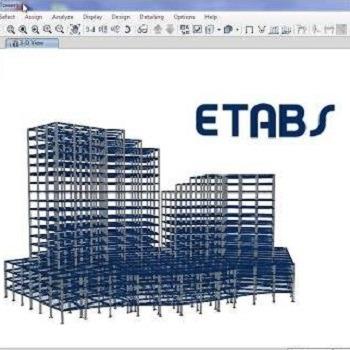 شبیه سازی و تحلیل ساختمان 8 طبقه تجاری با ETABS