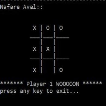 شبیه سازی بازی دوز XO به زبان C++