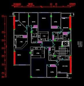 پروژه آماده طراحی ساختمان مسکونی بتنی 8 طبقه با ETABS
