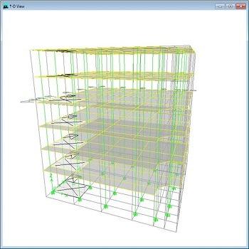 پروژه آماده طراحی ساختمان تجاری بتنی 6 طبقه با ETABS و SAFE