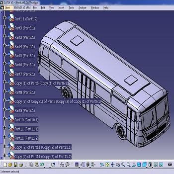 طراحی و مدلسازی اتوبوس بنز 302 با کتیا