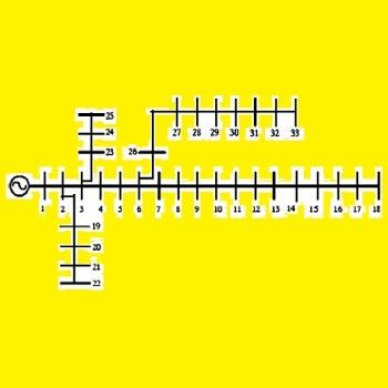 شبیه سازی توزیع بار در یک شبکه 33 شینه با متلب