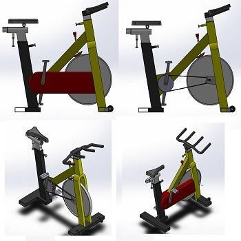 طراحی و مدلسازی دوچرخه ثابت با سالیدورک