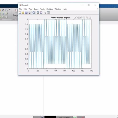 پروژه مدولاسیون با استفاده از کد قالبی خطی و تصحیح خطا با متلب