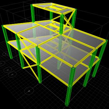 پروژه آماده سازه های فولادی با ETABS و Safe