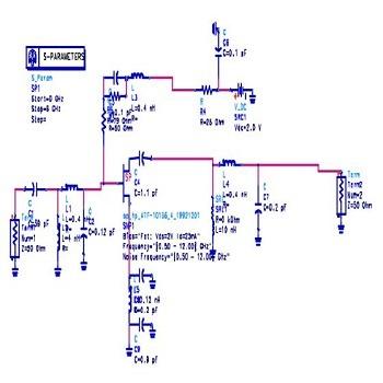 شبیه سازی مقاله تقویت کننده کم صدا Flat Gain برای گیرنده بی سیم باند گسترده 1.8 تا 4 گیگاهرتز با ADS