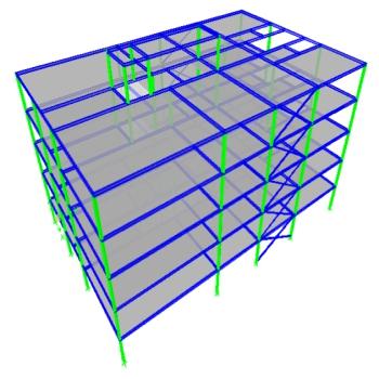 پروژه تحلیل و طراحی یک پروژه فولادی با ایتبس