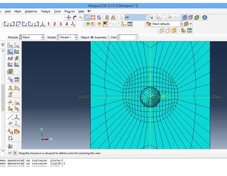 پروژه تحلیل برخورد یک گوی با ورقه فلزی با آباکوس