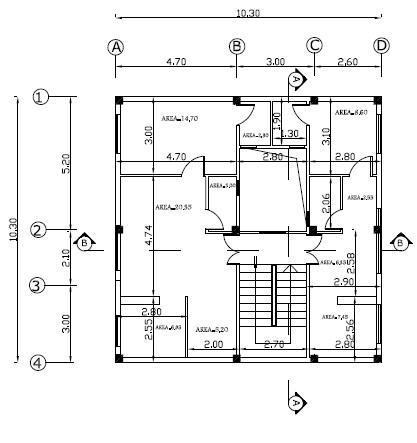 پروژه متره و برآورد ساختمان دو طبقه براساس فهرست بها ابنيه 97