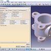 پروژه طراحی یک قطعه و به دست آوردن وزن آن با فلزات مختلف با کتیا