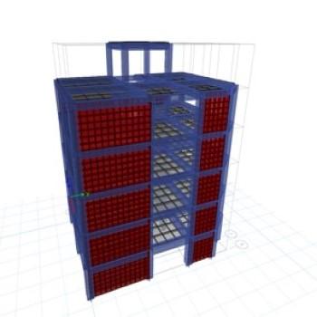 پروژه تحلیل و طراحی دستی پروژه فولاد و بتن یک سازه 5 طبقه با اکسل