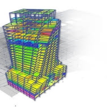 پروژه فولاد در یک جهت مهاربندی هم محور ضربدری و در جهت دیگر قاب خمشی و تیرچه بلوک برای سقف با ایتبس